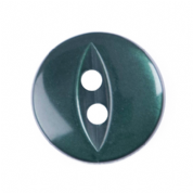 Fish Eye Button - Colour 026 Dark Green - Choose Size 11mm-19mm